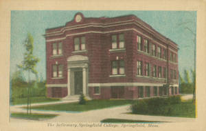 Postcard of the Walter Rupert Weiser Infirmary at Springfield College.