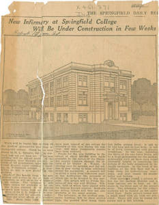 New Infirmary at Springfield College, 1921