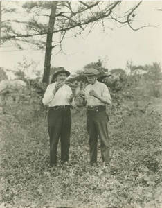 President Doggett and Robert Morse at the Building Site of Weiser Hall at Springfield College, 1921