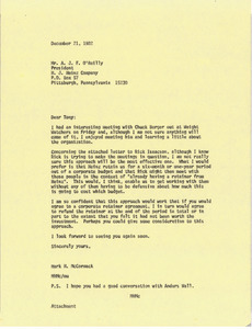 Letter from Mark H. McCormack to A. J. F. O'Reilly