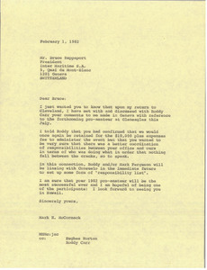Fax from Mark H. McCormack to Bruce Rappaport