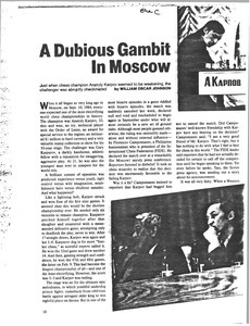 A Dubious Gambit in Moscow