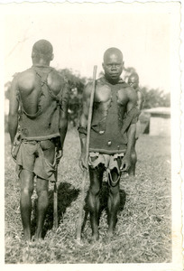 African men, unidentified, in traditional dress