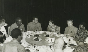 Shirley Graham Du Bois at a dinner with Zhou Enlai and others