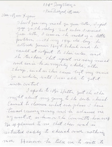 Letter from Louise D. Smith to Gloria Xifaras Clark