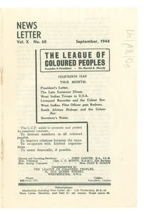 League of Coloured Peoples newsletter