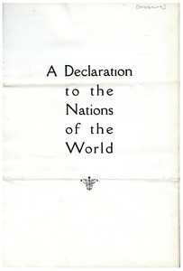 Declaration to the Nations of the World