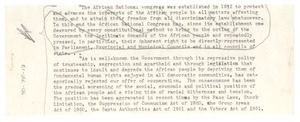 Unidentified speech fragment on the African government