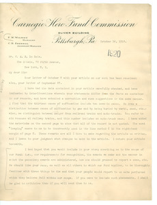 Letter from F. M. Wilmot to the Crisis