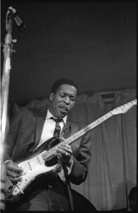 Buddy Guy and his Bluesband at Club 47: Buddy Guy with guitar