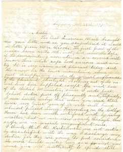 Letter from William Penn Brooks to Rebecca Brooks