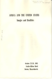 Africa and the United States conference program