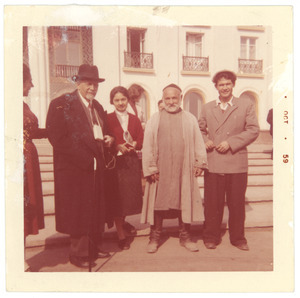 W. E. B. Du Bois with unidentified men and one women in Tashkent