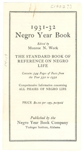 1931-32 Negro Year Book flier