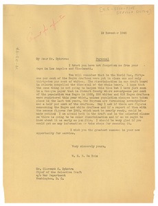 letter from w e b du bois to united states selective service system