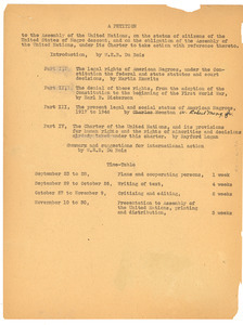 A Petition to the Assembly of the United Nations