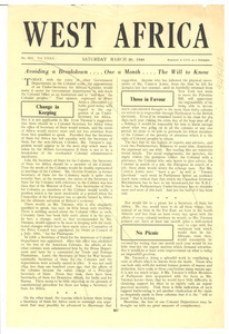 West Africa no. 1622 vol. 32 [fragment]