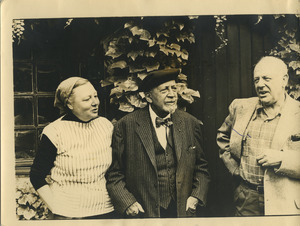 Hazel Strand , W. E. B. Du Bois and Paul Strand in Paris, France