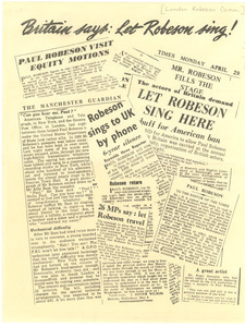 Britain says: let Robeson sing!