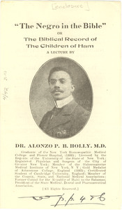 The Negro in the Bible or the Biblical record on the children of Ham
