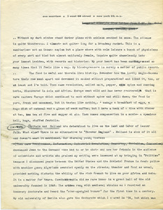 Excerpts from letter from W. E. B. Du Bois