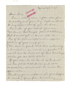 Letter from Gladys A. Lester to The Crisis