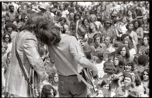 May Day concert and demonstrations: Carl Wilson (l) and Bruce Johnston performing with the Beach Boys