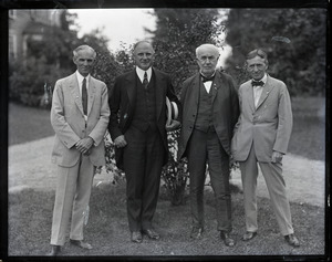 Henry Ford, Gov. Alvan Fuller, Thomas A. Edison, and Harvey Firestone (l. to r.)