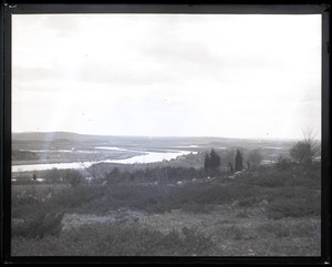 Stephen P. Hale, the Newbury Hermit: view from Old Town Hill over Parker River and the wetlands of the Great Marsh
