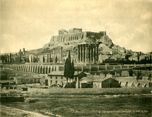 The Acropolis with the Temple of Zeus, Athens
