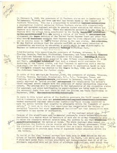 Letter from Hugh H. Smythe to the editor of the New York Times