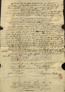 Deeds to land granted to town of Westhampton, Mass.