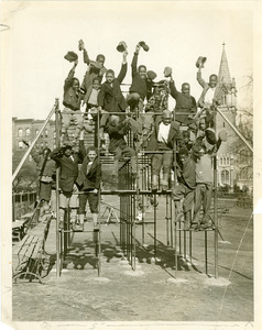 African American children at a city playground