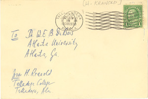 Postcard from H. Kranold to W. E. B. Du Bois