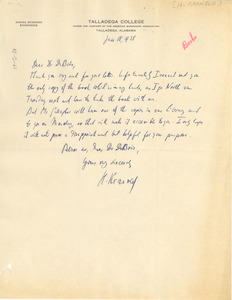 Letter from H. Kranold to W. E. B. Du Bois