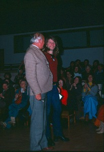 Peter Caddy with Michael Rapunzel before lecture in Theater