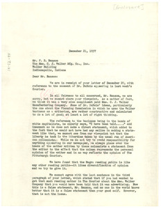 Letter from Pittsburgh Courier to Mme. C. J. Walker Manufacturing Company