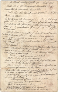Minutes of the Prudential Committee of the Congregational Church regarding Enoch Hale's retirement as minister