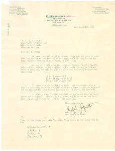 Letter from E. P. Dutton to W. E. B. Du Bois