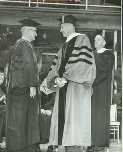 Calvin Plimpton at his hooding ceremony during the Centennial Convocation