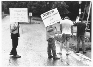 Students picketing