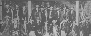 Class of 1871 members gather in outside North College