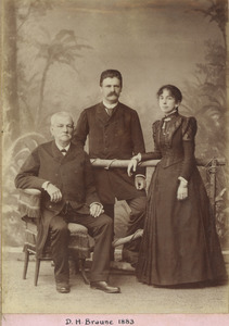 Domingos H. Braune with his family