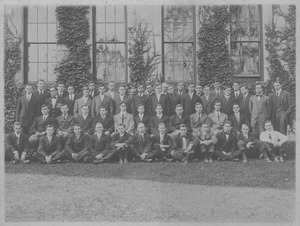 Class of 1911 in front of the old chapel
