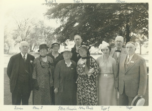 Class of 1882 at later reunion