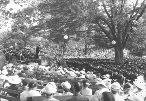 Addressing college graduates in the rhododendron garden