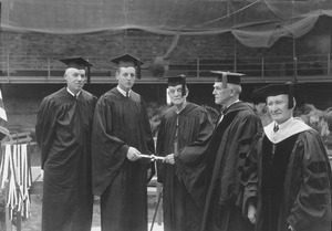 Austin W. Fisher Jr. and Jabez F. Fisher at commencement