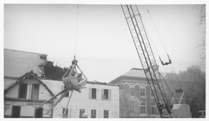 Wrecking of the Mathematics Building (formerly known as the Entomology Building)