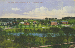 East view, from dormitory, M.A.C., Amherst, Mass.