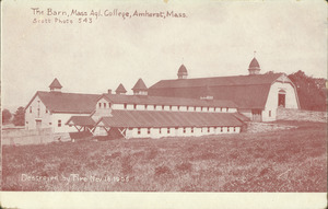 The barn, Mass. Agl. College, Amherst, Mass., destroyed by fire Nov. 16, 1905